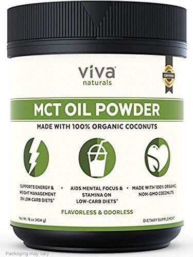 Viva Naturals MCT Oil Powder, 16 oz