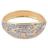 Trisha Jewels Kuber Collection 24 Karat Gold Plated with Swarovski,Godsend, Serene Stone Kadaa for Women