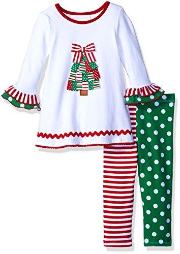 Bonnie Baby Baby Girls' Christmas Dress and Legging Set, ...