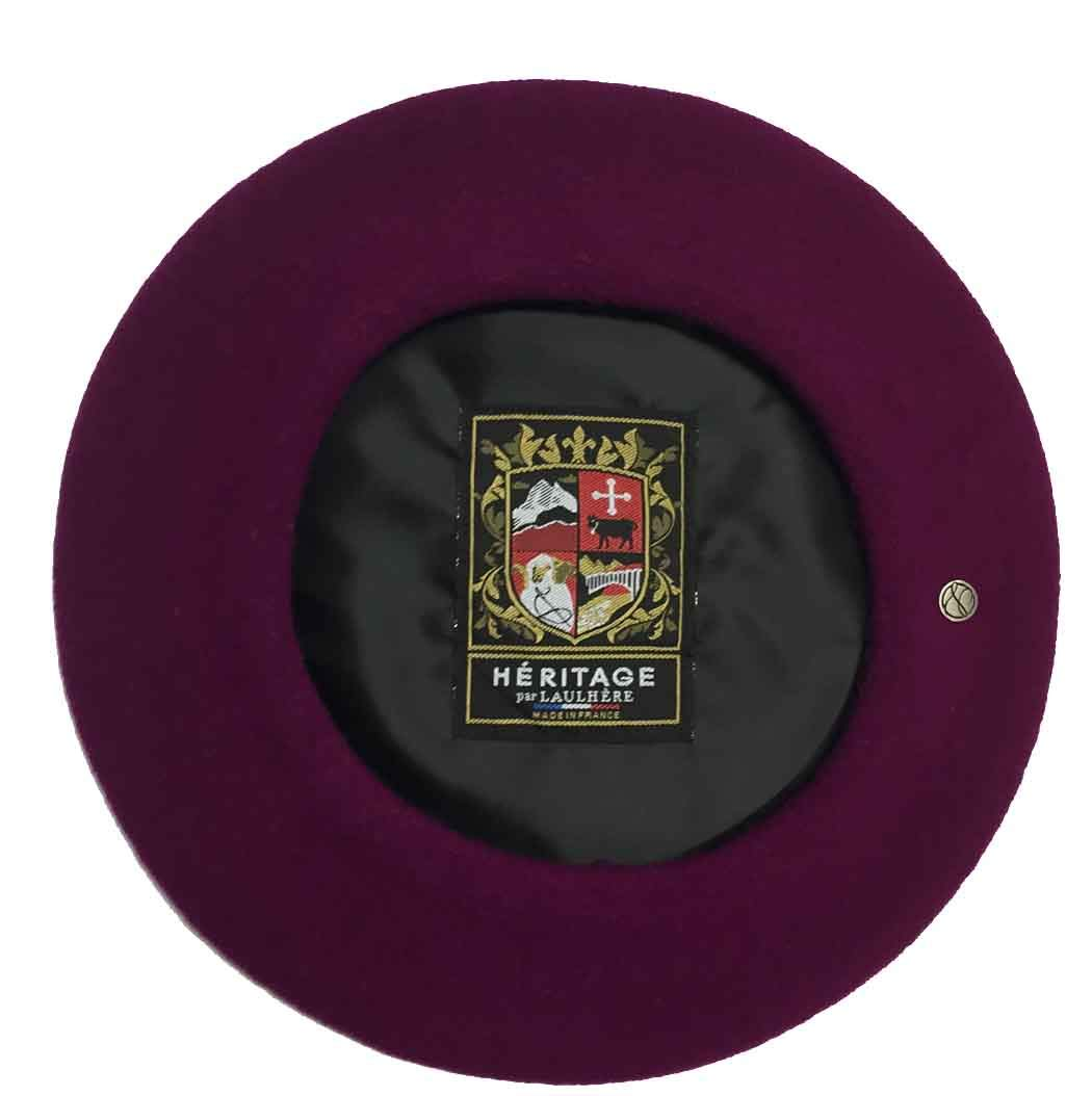 Laulhere Classiques Authentique Traditional French Wool Beret, Violet (Raspberry)