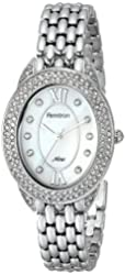 Armitron Women's 75/5254MPSV Swarovski Crystal-Accented Oval Silver-Tone Bracelet Watch