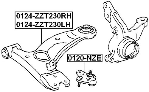 Oem Toyota Left Front Arm Febest 48069-20381