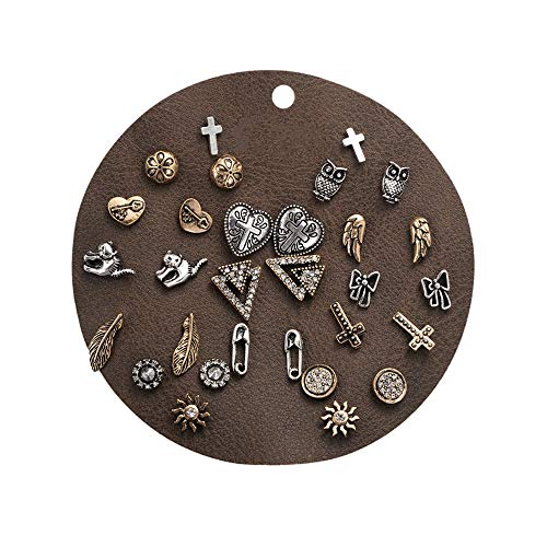 Bevan Men Punk Style Stud Earring Sets With Animals and rhinestone (Style-1)