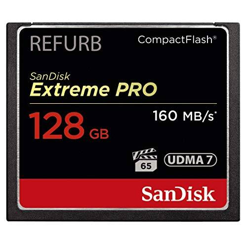 SanDisk Extreme PRO 128GB CF CompactFlash Card UDMA 7 Speed Up to 160MB/s SDCFXPS-128G-X46 (Certified Refurbished)