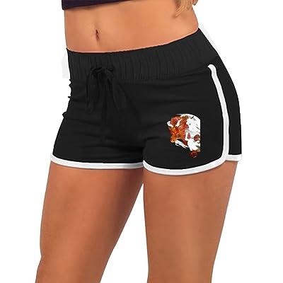 TIA HICKS Women Summer Athletic Drawstring Shorts Taurus Constellation Zodiac Sign Retro Running Yoga Gym Workout Pants