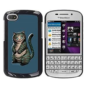 TECHCASE**Cubierta de la caja de protección la piel dura para el ** BlackBerry Q10 ** Evil Cat