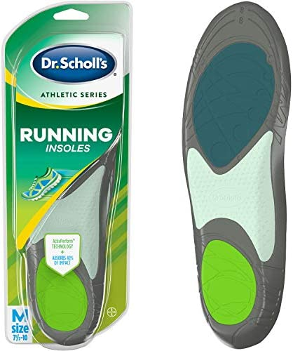 Dr. Scholl's Running Insoles // Reduce Shock and Prevent Common Running Injuries: Runner's Knee, Plantar Fasciitis and Shin Splints (for Men's 7.5-10, additionally to be had for Men's 10.5-14 & Women's 5.5-9)