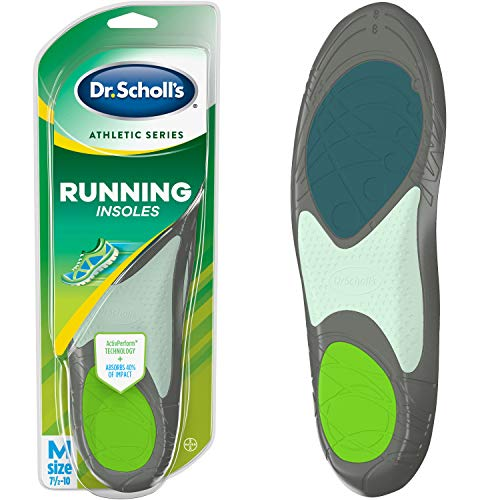 Dr. Scholl's RUNNING Insoles (Men's 7.5-14, Women's 5.5-9) // Absorb Shock and Prevent Common Running Injuries