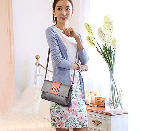 Bolso C Abc Messenger Mujeres Diseño Top Mujer Pu Hombro Bolsos De Tote Cg Elegante Moda Handle Cuero Bag Para gEwqEUXx