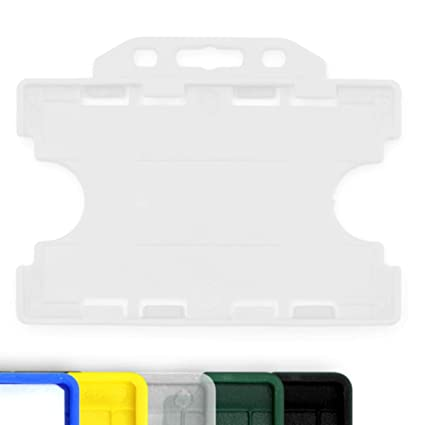 10 soportes para tarjetas identificativas, 1 cara abierta de plástico rígido transparente, 86 x 54 mm CR80, de la marca CKB Ltd®