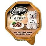 Cesar Mini Fillets in Gravy with Tasty Beef & Turkey - Foil Tray (150g)