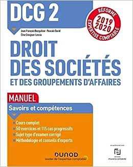 Dcg 2 Droit Des Societes Et Des Groupements D Affaires Manuel Reforme 19 20 Reforme Expertise Comptable 2019 2020 Ɯ¬ ɀšè²© Amazon