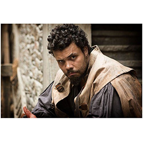 The Musketeers (TV Series 2014 - ) (8 inch by 10 inch) PHOTOGRAPH Howard Charles Looking Dangerous in Blue/Khaki Outfit kn -