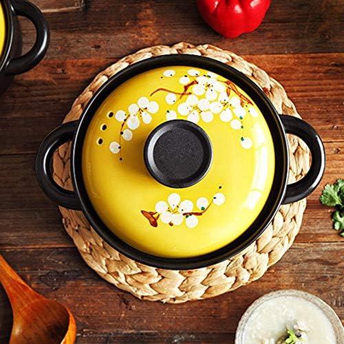 Casserole en céramique à usage domestique à flamme sèche résistante aux hautes températures-3.5Lpot-belledsouppot