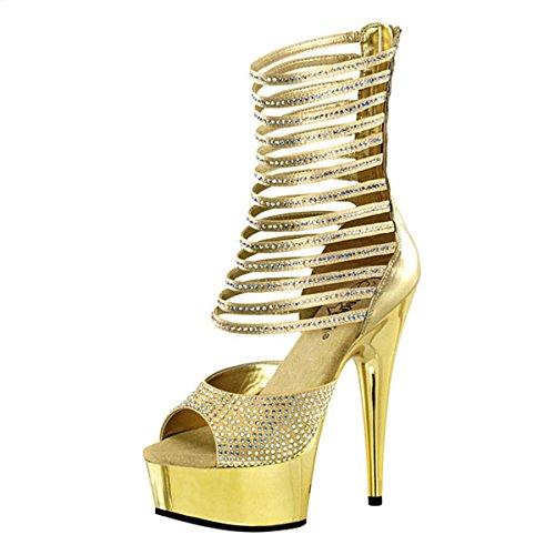 Strass High Heels gold Gold