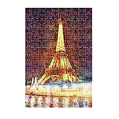 Haluoo 150 Pieces Kids Puzzles - Eiffel Tower Jigsaw Puzzles Intelligence Develop Puzzles Learning Education Game Entertainment Decompression Game for Beginers Toddler Boy Girl Parent Child Toy: Clothing