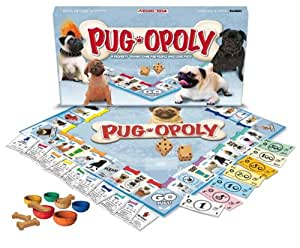 pug care game amazon com pug opoly monopoly style game for pugs 8573