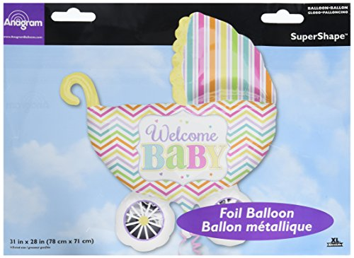 Anagram International Baby Brights Carriage Shape Balloon, 31