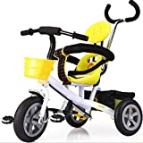 trolley ankle - Cuicui Tricycle Child Balance Bike Protection, Hand Push, Stack Pedal Green Material 1-6 Year Old Baby Tricycle,White