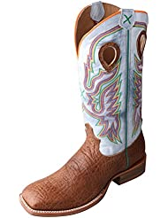 Twisted X Mens Ruff Stock Boot Bullhide/Blue Ice