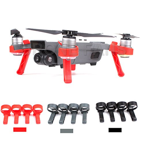 Drone Fans Landing Gear Stabilizers Height Extender Kit Set Extensions Leg Gimbal Camera Protector for DJI SPARK Drone Red