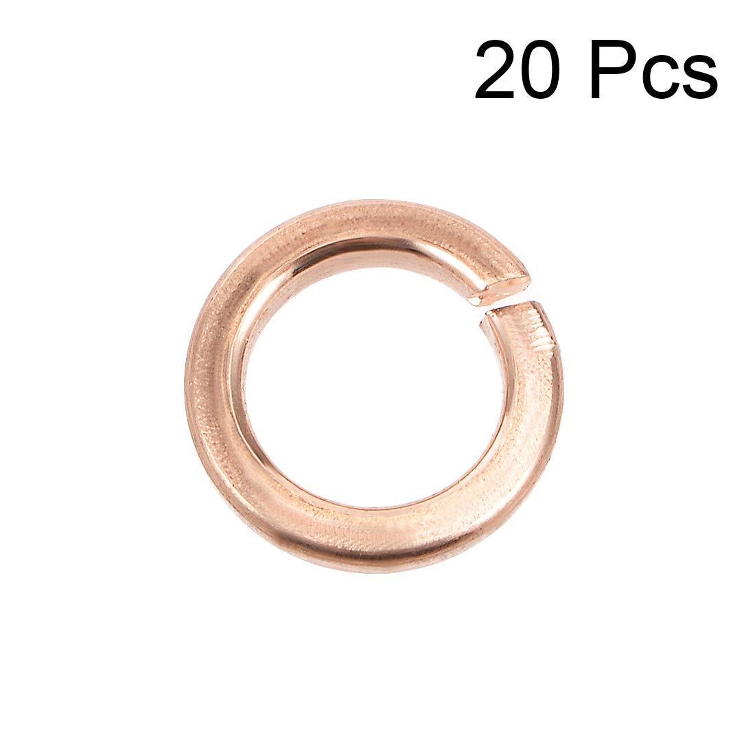20Pcs Flat Copper Washer 5.3 mm x 8 mm x 1.3 mm for Screw Bolt