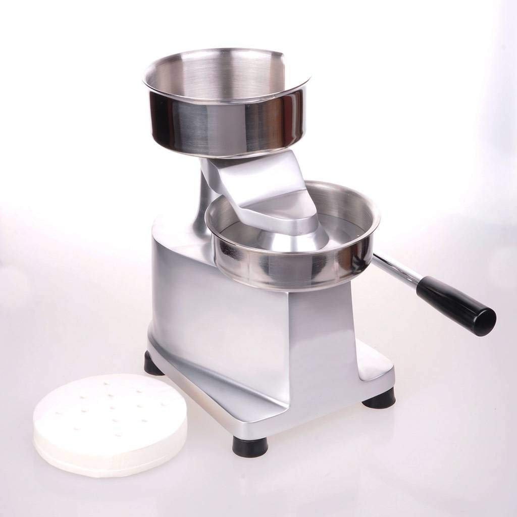 Wotefusi Hamburger Patty Press Maker Stainless Steel Commercial Hamburger Press Machine 130mm/5