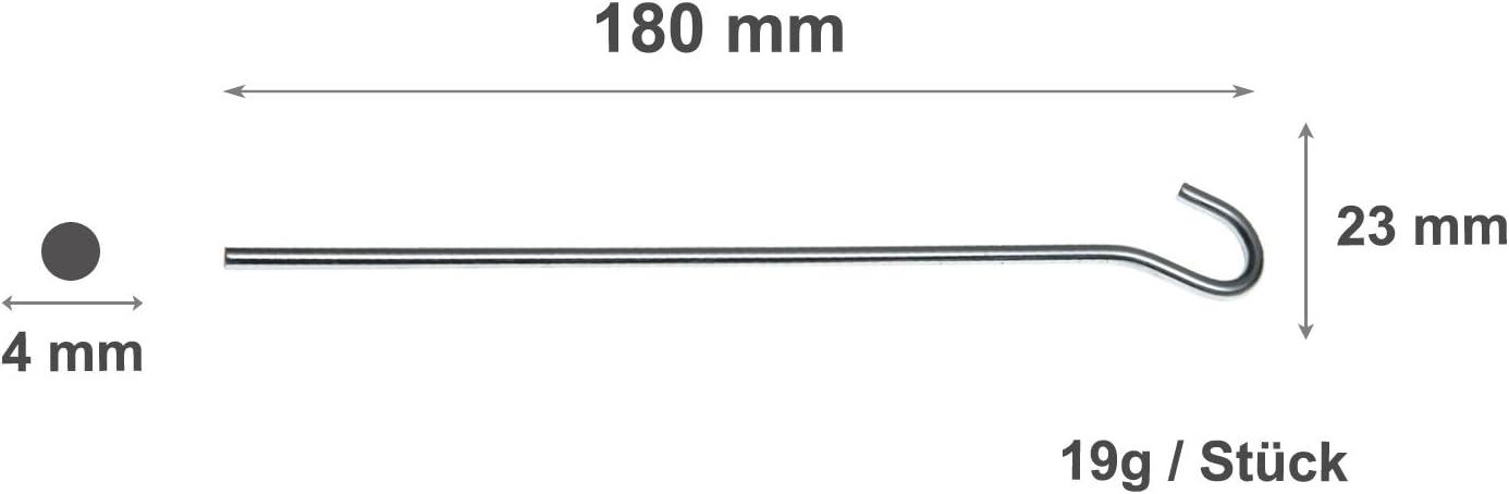 Lunghezze: 18 cm // 22 cm // 30 cm // 48 pz // 24 pz // 96 pz. 12 pz JUSTCAMP Fresno Picchetti in Acciaio