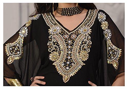 Women's OKM Abaya Kaftan Style Long Maxi Caftan Magenta Violet Dress Jalabiya Dubai Farasha Top drcqTwrSy