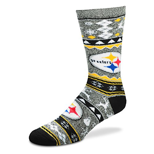 for Bear Feet NFL Holiday Crew Sock Steelers L