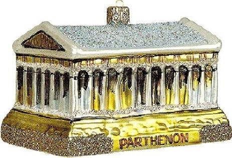 Amazoncom Athens Greece Greek Parthenon Poland Glass Christmas