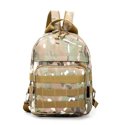 JWBB Bolso de Hombro de camuflaje, de hombres y mujeres de mochila, lienzo, deportes, viajes tácticas, tácticas militares, mochilas escolares, bolsas impermeables, negro. Ejército verde Camuflaje Italia