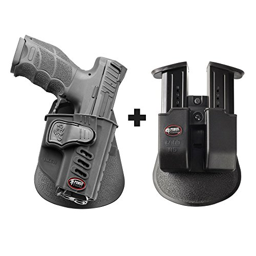 Fobus HK2CH Paddle Conceal Concealed Carry Holster H&K VP9 + 6909 ND Double Magazine Pouch