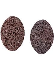 Baoblaze 2pcs Women Men SPA Salon Home Volcanic Lava Pumice Stone Foot Scrubber Callus Remover