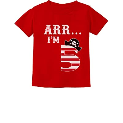 d292f7830 ARR I'm 5 Pirate Birthday Party Five Years Old Toddler/Infant Kids T-Shirt