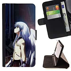 For Samsung Galaxy Note 3 III Anime Girl Beautiful Print Wallet Leather Case Cover With Credit Card Slots And Stand Function