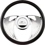 "Billet Specialties 29825 14"" Polished Eagle Half Wrap Steering Wheel"
