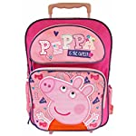 "Peppa Pig ""Peppa Is the Cutest"" Rolling Backpack, 16"""