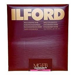 Ilford Multigrade FB Fiber Based Warmtone VC Variable Contrast Black & White Enlarging Paper - 8x10''-25 Sheets - Semi-Matte Surface