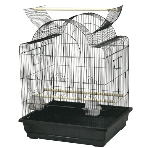 UPC 350953735857, Kings Cages ES 2521 OP open top bird cage toy toys Lovebirds Parakeets Canaries (BLACK)