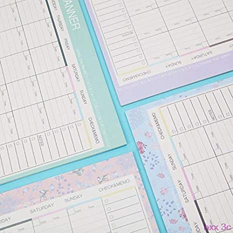 Amazon.com: New Monthly Paper Pad 20 Sheets DIY Planner Desk ...