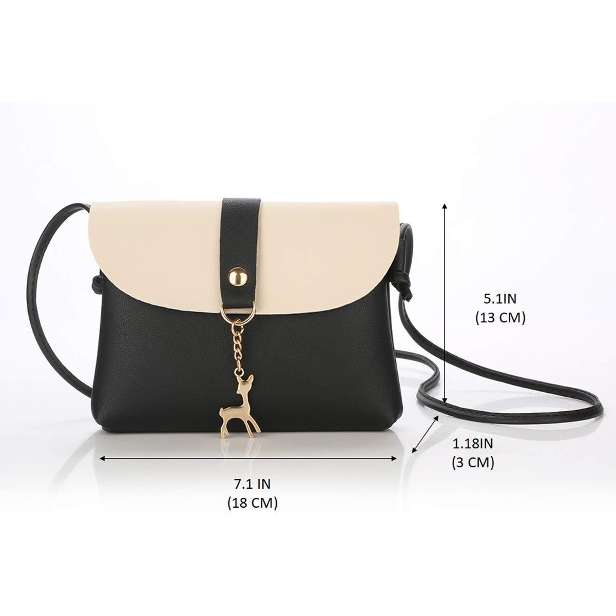 Small Crossbody Purse for Women With Pendant, PU Leather Crossbody Bag With  Strap Cell Phone Bag for Girl, Black  Handbags  Amazon.com b57f3b6e4f