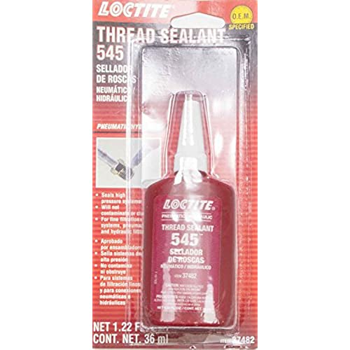 Loctite 492145 545 Pneumatic/Hydraulic Thread Sealant Bottle, 36-milliliter