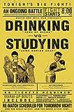 Drinking vs. Studying Poster (58,5cm x 89cm)