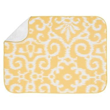InterDesign iDry Kitchen Mat, 24-Inch by 18-Inch, Yellow/White