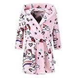 Clearance! Unisex Children's Flannel Bathrobes Hoodie Baby Kids Bath Towels with Hood Pajamas 1-7...