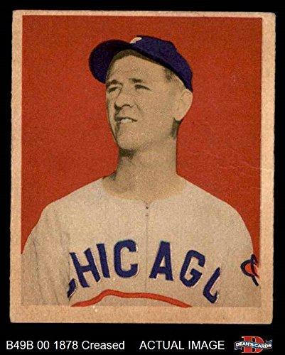 1949 Bowman # 52 Johnny Schmitz Chicago Cubs (Baseball Card) Dean's Cards 3  - VG Cubs