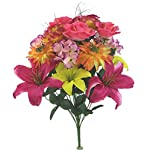 Admired-By-Nature-Artificial-Lily-Peony-Hydrangea-Mixed-Flower-Bush