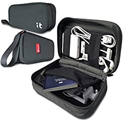 Travel Cord Organizer - Electronics Accessories Case & Cable Organizer - Electronics Travel Organizer (Hand Dark Gray)