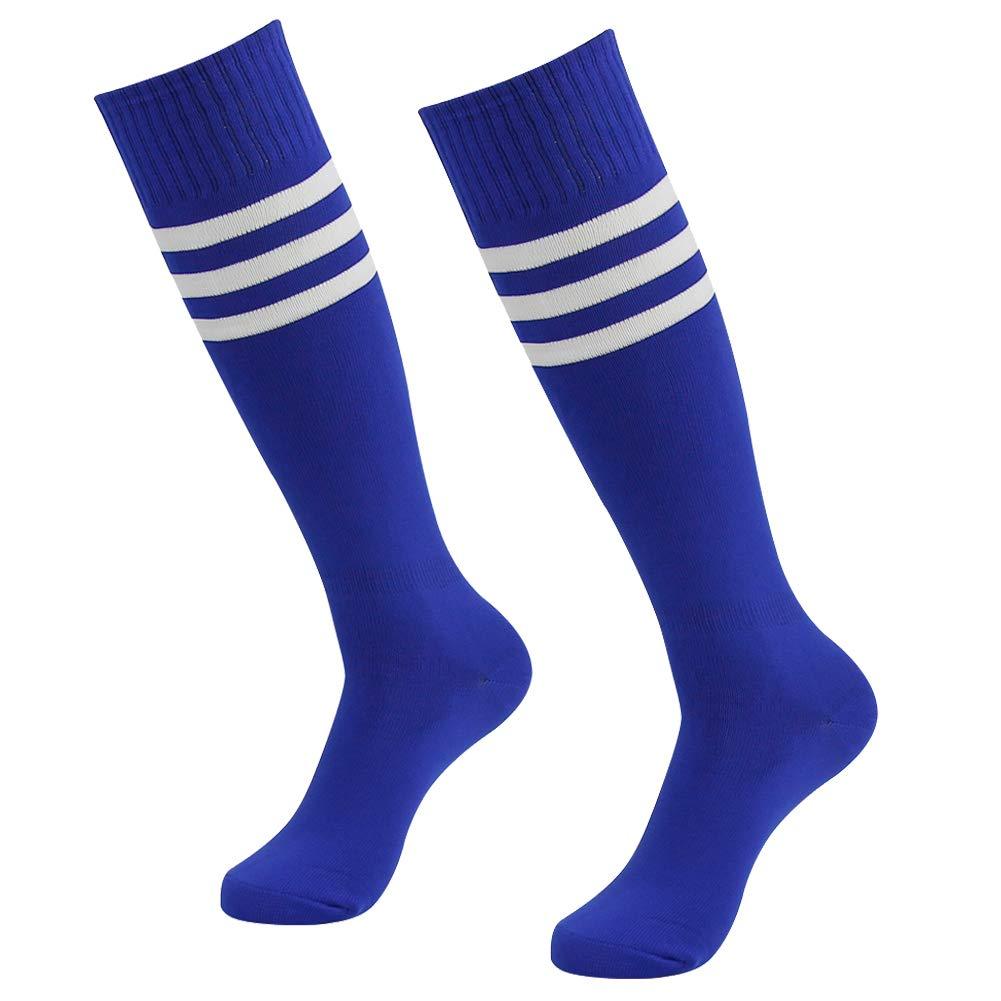 Soccer Socks,SUTTOS Mens Womens Athletic Long Tube Team Socks Blue 2 Pairs by SUTTOS